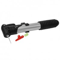 Bomba de Ar Aço PÉ com Monômetro - de Mão - Mini Pump