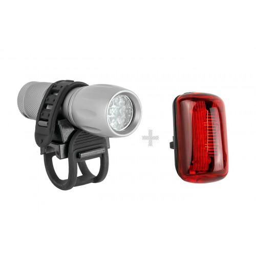 Farol Dianteiro - Alumínio - Lente Branca com 9 leds + brake light