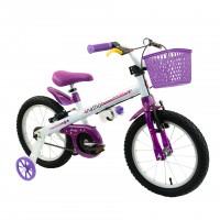 Bicicleta Aro 16  Nathor Top Girls Infantil - Rosa com lilás