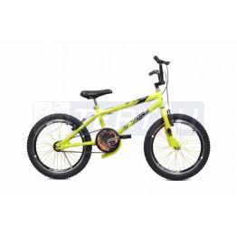 Bicicleta Aro 20 - Cross Street - Amarela Neon