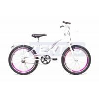 Bicicleta Aro 20 - Lady - Branca com Violeta
