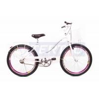 Bicicleta Aro 24 - Lady - Branca com Violeta