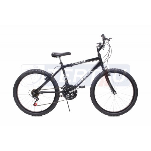 Bicicleta Aro 24 - MTB - Masculina - 18 marchas - Preta