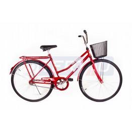Bicicleta Aro 26 - Tropical - Freio no Pé - Com Cesta - Vermelha