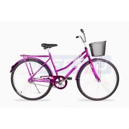 Bicicleta Aro 26 - Tropical - Freio no Pé - Com Cesta - Violeta