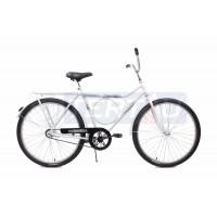 Bicicleta Aro 26 - Barra Circular - Freio no Pé - Branca
