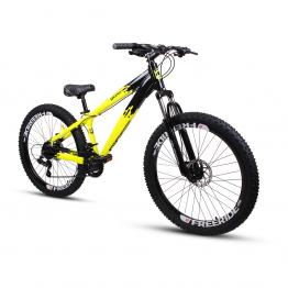 Bicicleta Aro 26 - GIOSBR 2020 - 21 velocidades - Shimano - Freio à Disco Mecânico - Amarela com Preto
