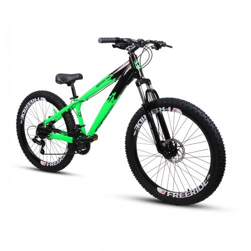 Bicicleta Aro 26 - GIOSBR 2020 - 21 velocidades - Shimano - Freio à Disco Mecânico - Verde com Preto