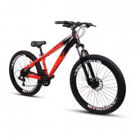 Bicicleta Aro 26 - GIOSBR 2020 - 21 velocidades - Shimano - Freio à Disco Mecânico - Vermelha com Preto