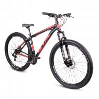 Bicicleta Aro 29 - GTA - 21 velocidades - Freio à Disco Mecânico - Preta/Cinza/Vermelha