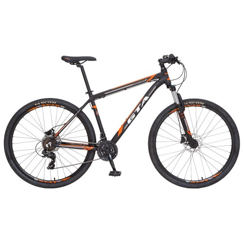 Bicicleta Aro 29 - GTA Comp 329 - 21 velocidades - Freio à Disco Hidráulico - 19 - Preta/Laranja