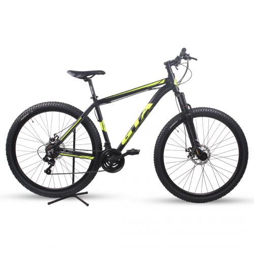 Bicicleta Aro 29 - GTA NX11 - 21 velocidades - Freio à Disco Mecânico - 19 - Preta/Amarela