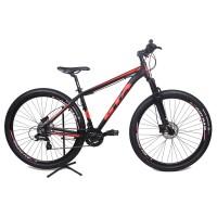 Bicicleta Aro 29 - GTA NX11 - 24 velocidades - Freio à Disco Hidráulico - 17 - Preta/Vermelha