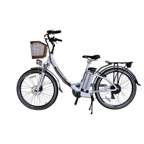 Bicicleta Aro 26 - Elétrica - July - Magias Italiane - Branca