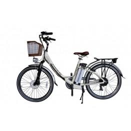 Bicicleta Aro 26 - Elétrica - July - Magias Italiane - Champagne