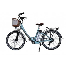Bicicleta Aro 26 - Elétrica - July - Magias Italiane - Verde Marinho