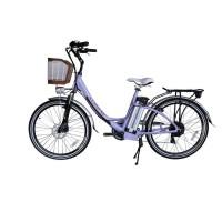 Bicicleta Aro 26 - Elétrica - July - Magias Italiane - Lilás