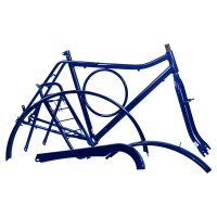 Kit Quadro Barra Circular - Com Pino - Azul