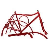 Kit Quadro Barra Circular - Com Pino - Vermelha
